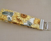 Key Fob wristlet - Sunflowers3