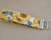 Key Fob wristlet - Sunflowers3