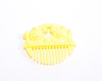 My Little Pony Yellow Comb, came with My Little Puppy Dalmation Dots - Li'l Litters Comb Accessory ~ Pink Room ~ 160912