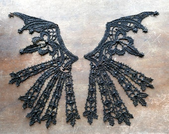 Victorian Gothic Large Beaded Bodice Appliques