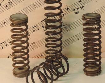 Vintage Industrial Metal Springs Set of 4, Craft Supplies, Rustic Decor,
