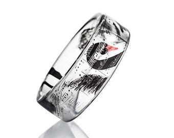 Black Swan Resin Bangle, Resin Bracelet, Resin Jewellery