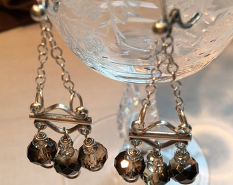 Smokin' Hot Chandelier earrings - Sterling silver leverback