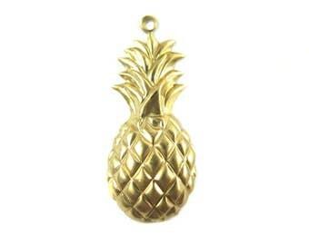 Brass Pineapple Charm (6x) (M877-A)