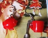 Red Teatime Earrings