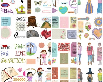 Faithbooking Printables Mega Pack of 40 Collage Sheets