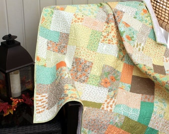 "REFRESH Sofa Throw Handmade Quilt Drop Dead Gorgeous Minky Backed Ready to Ship 52"" x 63"""