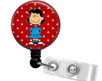 LUCY Peanuts Gang Retractable Badge Reel