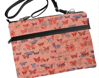 11 inch MacBook Air Sleeve Case / Bag / Shoulder Bag Zipper Padded /FAST SHIPPING/Washable/ Butterfly Kisses Fabric