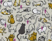 Cotton + Steel Cat Lady - schmitties mustard - 50cm