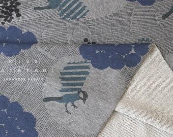 Japanese Fabric Echino Kokka French Terry Knit - joy - B - 50cm