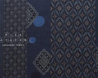 Japanese Fabric indigo blue traditional print - 50cm