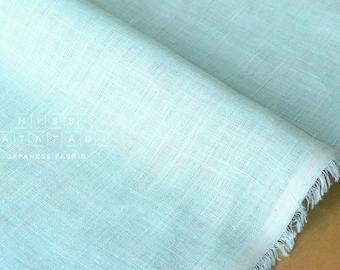 Japanese Fabric 100% linen - mint blue -  50cm
