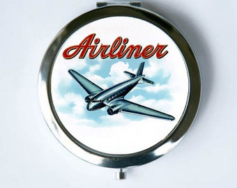 Airliner Plane Compact MIRROR Pocket Mirror pilot