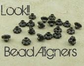 20 TierraCast 6mm Beaded Daisy Bead Aligner Bead Caps > Black Ox Plated Lead Free Pewter - I ship Internationally 5692