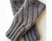 Knit Gloves, Gauntlets, Mitts, Merino Wool Hand Knit Fingerless Gloves for Men or Women
