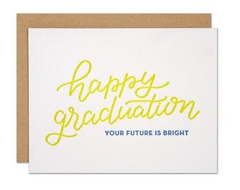 Happy Graduation Letterpress Card