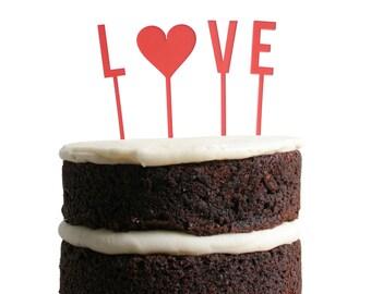 Love Dessert Topper - Poppy
