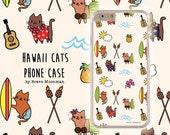 iPhone 6 Case Aloha Kitty Hawaii Cats Samsung Galaxy Note 4 Galaxy S6 Case