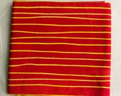 Skinny Stripes hand Dyed and Patterned Cotton Fabric/ Half yard