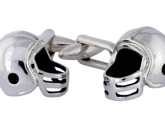 American Football  Cufflinks, Sterling Silver, personalized