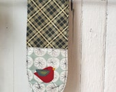 Double Oven Mitts with Felt Applique roosters