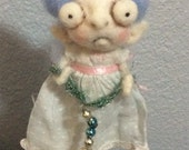 Sweet little ELF ooak art doll hand needle felted