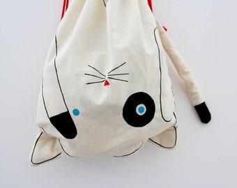 upside down cat - backpacks