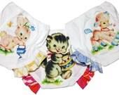 Toddler Underwear Pants, Training Panties Set, Ruffled Legs, Three Pairs Underwear, Lamb Bunny and Kitty, Ruffles, 2T, 3T