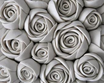 Rosebud - Luxe Porcelain Micro Tile - Textured Decorative Wall Tile Sculpture Wall Sculpture Modern Art