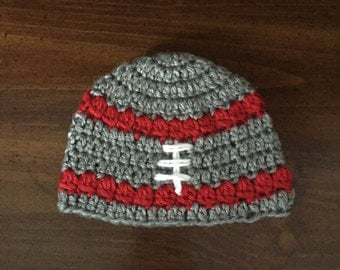 Ohio State colors newborn hat