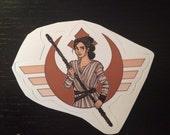 Individual Die Cut Resistance Girl sticker (Item 01-364)