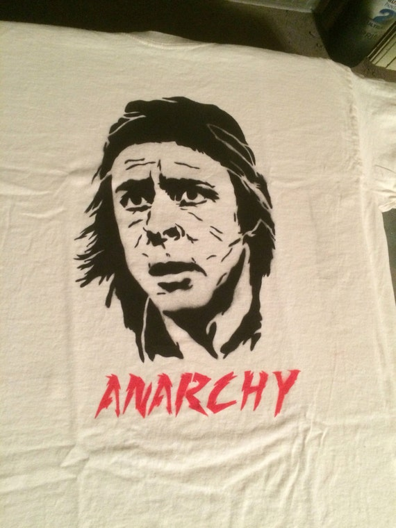 John Bender Breakfast Club Anarchy spray painted shirt