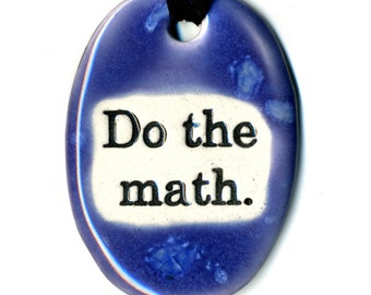 Do The Math Ceramic Necklace in Purple