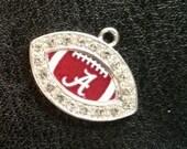 Roll Tide Alabama Football Crystal Charm
