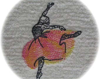 Custom Embroidery Ballerina Chenille Bedspread Patchwork Quilt Squares Done as You Like Ballet