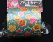 Japanese Fabric Tape Multi Pattern -Plum Blossoms - Flower Tape - Japanese Tape - Blue Tape - Blue Fabric Tape  FromJapanWithLove