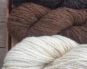 590 yards lot handspun natural yarn 2 + pounds handmade yarn set sampler 2 ply worsted wool mohair alpaca yarn