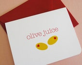 As seen on TASTE of HOME MAGAZINE- Olive juice- single greeting card