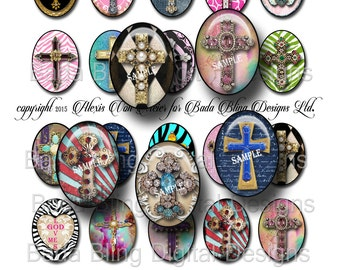 30mm x 40mm  Elegant Crosses for glass tile pendants , INSTANT  Download at Checkout, collage sheets for jewelry, cross pendants,crosses