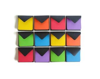 Mini Stationery Set, Black Envelopes, Color Note Cards, Mini Note Cards, Blank Note Cards, Packaging Supply, Small Envelopes