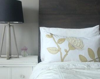 Gold & Cream Cushion Cover