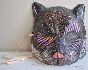 vintage handmade cat mask