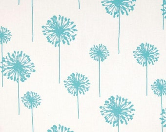 Girly blue  and white dandelion valance blue valance 52 wide 14 long