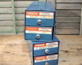 One small metal drawer set  organize r workroom, studio, or craft space Blue Sprague