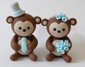 Custom Monkey Cake Topper Wedding