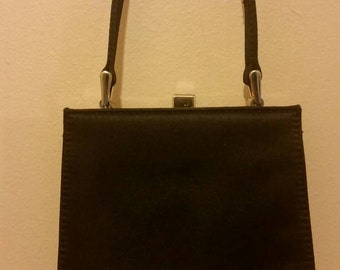 Small Black Satin Evening Bag