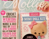 Mollie Makes Magazine - Sweet Shades - Issue 67 - With Mimi Doll Kit - 11.00 Dollars