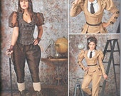 Simplicity 8114 Misses Costume Minidress Bustle Neckband Cuffs Back Stay Steampunk Goth Arkivestry Sewing Pattern Sizes 6-14 NEW