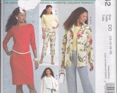 McCalls 4842 Misses Unlined Jacket Top Dress and Pants Sizes 12-18 Out of Print UNCUT